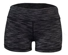 Yoga Shorts - Booty Shorts (Black Space Dye, These yoga shorts offer a full range of motion. They are sweat-wicking and breathable. Use them for Yoga or any workout. Solid colors are Nylon Spandex. All printed shorts are Polyester spandex Crossfit Shorts, Yoga Shorts, Workout Leggings, Women's Shorts, Under Armour, Black Space, Gym Clothes Women, Leather Jacket Outfits, Shorts With Tights