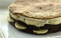 It's a lot of work for this gorgeous looking banana crepes with chocolate cinnamon cream and vanilla cream