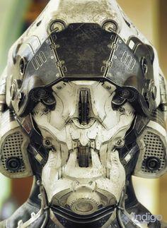 ArtStation - Scifi Helmet , by Mateusz Sroka More robots here.