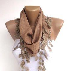 light brown women fashion scarf , summer trends