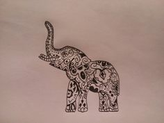 Something like this only a sun and a moon design on the elephant