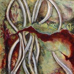 Mixed Media Abstract Painting ENTROPY TANGO by Santa Fe Contemporary Artist Sandra Duran Wilson -- Sandra Duran Wilson