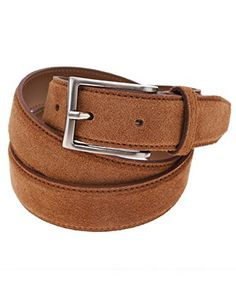 FLATSEVEN Mens Casual Solid Color Suede Belt with Single Prong Metal Buckle (Y404), LightBrown #FLATSEVEN #Men #Clothing #UK #Fashion #leather #belt #trends #hot #outfits #wedding