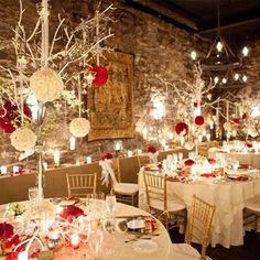 Christmas or Valentine's Day inspired wedding...