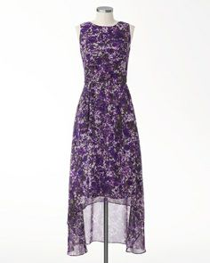 THIS IS THE DRESS! Violet shadows maxi dress - Bought this for the wedding. Knee length in front, longer in the back. off sale today! I would like to find either a lavender scarf or a lavender lacy shrug to wear across the shoulders for the ceremony. Summer Dresses Canada, Summer Dresses For Women, Sister Of The Groom, Purple Floral Dress, Easter Dress, Buy Dress, Clothing Patterns, Plus Size Women, Fashion Outfits