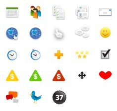 Open Source Icons - (37signals)