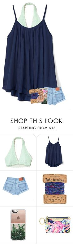 """when the rain starts to pour"" by madelinelurene ❤ liked on Polyvore featuring Hollister Co., Gap, Casetify, Lilly Pulitzer and Tory Burch"