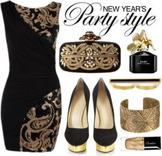 """""""Golden New Year"""" by jyfashion on Polyvore"""