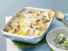 Kartoffel-Kohlrabi-Auflauf - Familienessen (2 Erw. und 2 Kinder) - smarter - Kalorien: 441 Kcal - Zeit: 40 Min. | eatsmarter.de Kartoffelgratin geht immer, oder? Kohlrabi liefert eine besondere Note.