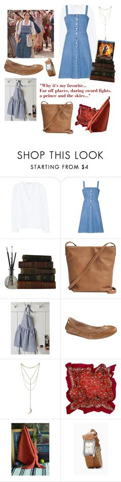 """""""To the Library and back"""" by gloeser ❤ liked on Polyvore featuring Disney, MANGO, STELLA McCARTNEY, BAGGU, Danica Studio, Antonio Melani, Hermès, BeautyandtheBeast and contestentry"""