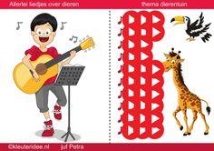 Interactieve liedlijst, thema dierentuin, kleuteridee by juf Petra, met heel veel liedjes over de dieren en de dierentuin te gebruiken op het digibord.