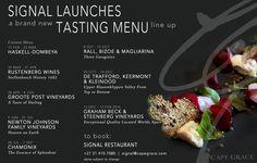 Signal's 2015 Tasting Menu Line-Up Tasting Menu, Wine Recipes, Wines, Vegetarian, Food, Eten, Meals, Diet