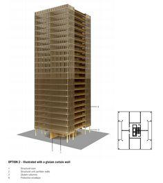 Ejemplos de la madera en arquitectura y su altura. ¿Cómo construir viviendas de madera? Más de 50 manuales o guías para la construcción en madera. #arquitectura #madera #construccion #manuales #guias