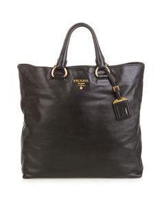 Prada Vitello Daino Leather Shopping Tote