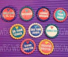 these are AWESOME for gifts for downline as they promote!!!  25 Origami Owl Inspired Bottlecap Magnets with by WizBizGirlz, $37.50