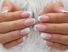 Интеpесные ваpианты фpенча на 2019 год in 2020 French Manicure Nails, Oval Nails, French Tip Nails, Gold Nails, Fancy Nails, Pink Nails, Trendy Nails, My Nails, Wedding Gel Nails