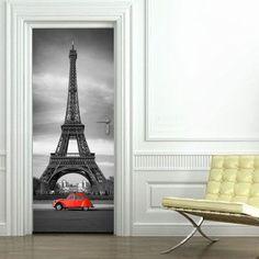 Πύργος+του+Eiffel,+αυτοκόλλητο+πόρτας