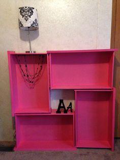 Repurposed dresser drawers :)
