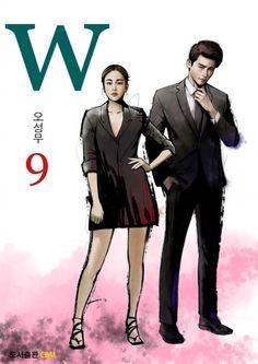 """Lee Jong-suk and Han Hyo-joo's Dorama """"W - two worlds"""" art W Two Worlds Art, Between Two Worlds, Jung Suk, Lee Jung, Manhwa, Kdrama W, W Korean Drama, Ver Drama, Kang Chul"""