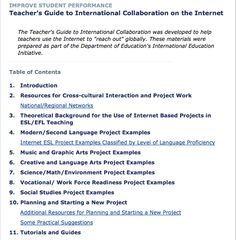 Teacher's guide to international collaboration on the internet