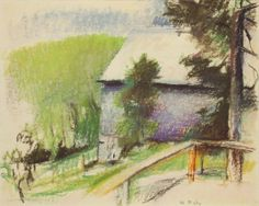 "Wolf Kahn  ""May in Battleboro""  Pastel on paper, 1979  16 x 20 inches  Signed lower right"