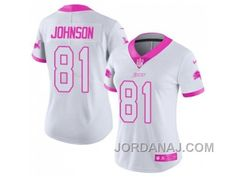 womens nike los angeles rams michael brockers white pink stitched nfl limited rush fashion jersey fr