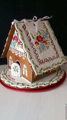 Gingerbread ginger gingerbread house on the right Anna and Marina. The shelf life of a gingerbread house - 1 year. Gingerbread House Designs, Christmas Gingerbread House, Gingerbread Cake, Gingerbread Houses, Christmas Desserts, Christmas Baking, Christmas Cookies, Cookie House, House Cake