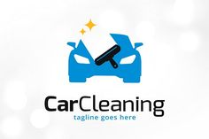 Car cleaning logo template templates this logo is great for car wash, car shop, car center, service center or any other business---logo by gunaonedesign Business Brochure, Business Names, Business Logo, Car Wash, Auto Wash, Car Logos, Car Shop, Car Cleaning, Car Detailing