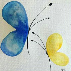 watercolour-butterflies-watercolor-butterflies-colours-simplicity-inspired/ - The world's most private search engine Watercolor Paintings For Beginners, Art Watercolor, Butterfly Watercolor, Butterfly Art, Butterfly Painting Easy, Simple Watercolor, Watercolor Tattoos, Watercolour For Kids, Simple Butterfly Drawing