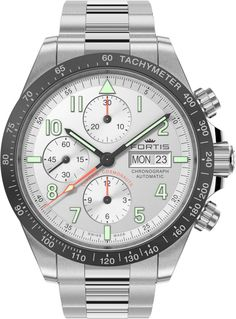 Fortis Cosmonautis Classic Cosmonauts #add-content #bezel-fixed #bracelet-strap-steel #brand-fortis #case-material-steel #case-width-42mm #chronograph-yes #date-yes #day-yes #delivery-timescale-1-2-weeks #dial-colour-silver #gender-mens #luxury #movement-automatic #new-product-yes #official-stockist-for-fortis-watches #packaging-fortis-watch-packaging #style-sports #subcat-cosmonautis #supplier-model-no-401-26-12-m #warranty-fortis-official-2-year-guarantee #water-resistant-100m