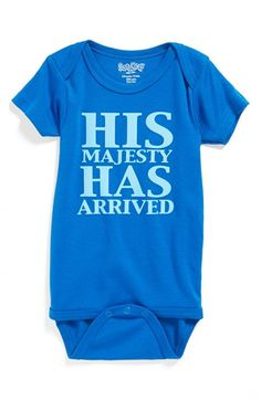 Sara Kety Baby & Kids 'His Majesty Has Arrived' Bodysuit (Baby Boys) available at #Nordstrom