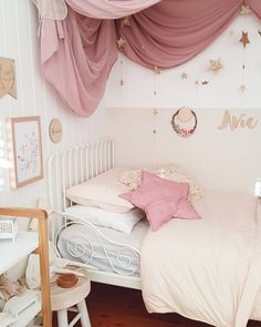 A beautiful girls room by Bek Halliday. Love the colours and that numero 74 drape is gorgeous!