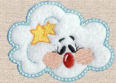 Threadsketches' set Reindeer games- Christmas machine embroidery design, cute cloud