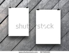 #Stock #photo: #two #blank #frames on #gray #metal #sheets #background #shutterstock