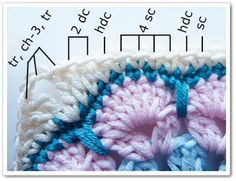 Crochet African Flower Square - Tutorial ❥ 4U // hf