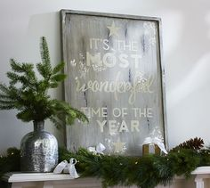 It's the Most Wonderful Time of the Year Wall Art | Pottery Barn