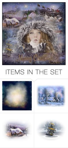 """""""Snow Kisses To All"""" by lastchance ❤ liked on Polyvore featuring art, Christmas, gifts, lastchance and forallonpoly"""