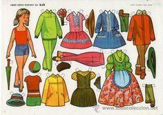 RECORTABLE MUÑECAS EVA Nº 848.- BLANCA FLOR.- TAMAÑO 27x 19 CM. (EL NOMBRE ESTÁ EN LA PARTE TRASERA) Reuse Old Clothes, Old Baby Clothes, Winter Clothes, Doll Clothes, Doll Quilt, All Paper, Vintage Paper Dolls, Clothes Crafts, Vintage Easter