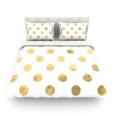 "KESS Original ""Scattered Gold"" Featherweight Duvet Cover - Outlet Item - KESS InHouse"