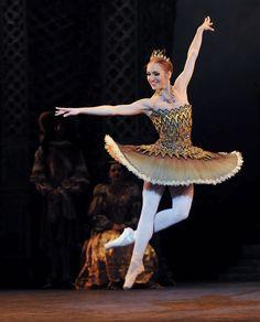 Ksenia Ovsyanick (Fairy of the Golden Vine)    English National Ballet's 'Sleeping Beauty'  see www.dancetabs.com  photo - © Dave Morgan