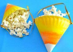Candy corn popcorn holders