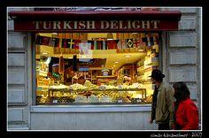 turkish delight - Beyoglu, Istanbul Turkish Delight, Street Food, Istanbul, Inspire, Places, Japanese Street Food, Lugares