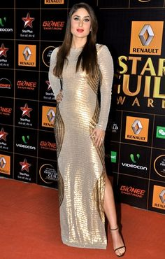 Kareena Kapoor at Star Guild Awards 2014. To view more, visit: http://www.vogue.in/content/who-wore-what-star-guild-awards-2014#3