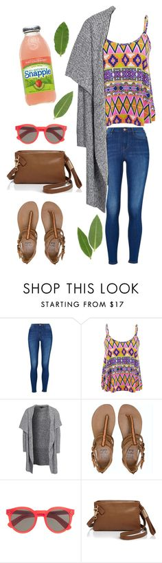 Casual Summer Outfit ☀️ by oliviajob on Polyvore featuring New Look, Influence, Billabong, Foley + Corinna, Illesteva, women's clothing, women's fashion, women, female and woman