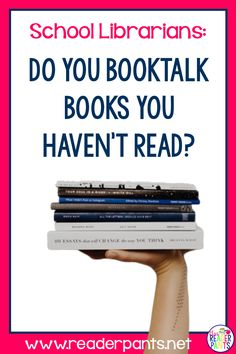 If you aren't booktalking titles you haven't read, your students are really missing out! Here's why you should do it and 9 practical tips to make it happen. Library Lessons, Library Ideas, High School Reading, Reading Incentives, Library Organization, Reluctant Readers, School Librarian, Independent Reading, Book Trailers