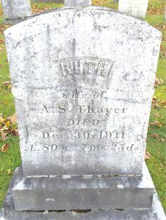 Ruth <i>Maston</i> Thayer