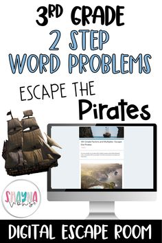 Get your students excited about math with this digital escape room- Escape the Pirates! This digital breakout covers 2 step word problems using the four operations for 3rd grade! This aligns with the common core standard- 3.OA.D.8.Digital escape rooms are an engaging way to review math concepts previously learned and are low prep for the teacher. Thats a win-win!In this digital game, students are on a treasure hunt! Will they be able to find the treasure chest before the pirates do?