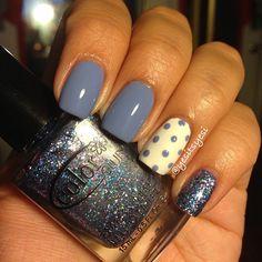 Polka dots & glitter