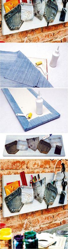 lienzo-porta-objetos-pared-reciclaje-diy-vaqueros-1