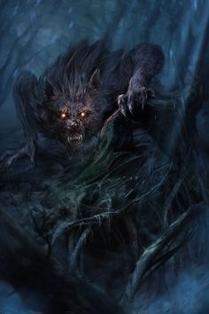 Kriviz is a sneaky wolf being who can turn invisible. He has glowing Fire eyes that captivate. He is part of the Dark Army. Dark Fantasy Art, Fantasy Artwork, Dark Art, Arte Horror, Horror Art, Arte Dope, Werewolf Art, Werewolf Eyes, Dark Fantasy